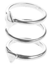 Miglio Geometric Ring Set Sterling Silver