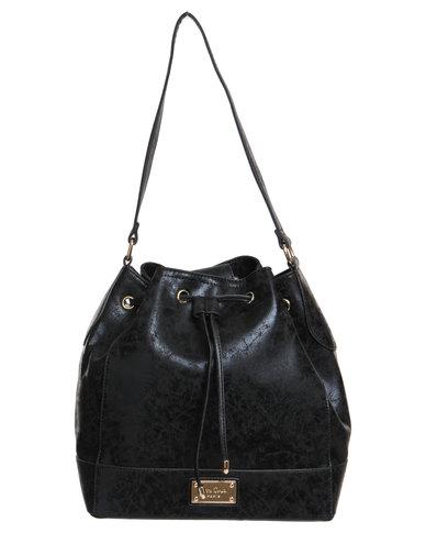Pierre Cardin Joan Bucket Bag Black