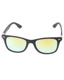 BondiBlu Colour Lens Wayfarer Sunglasses Black/Green