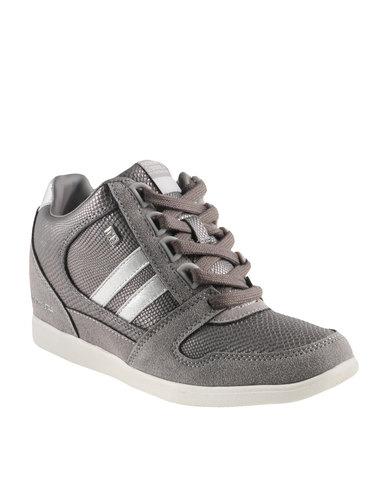 North Star Capella Wedge Sneakers Grey
