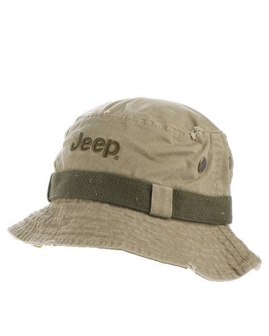 Jeep Bucket Hat Khaki  8f318aecdd4
