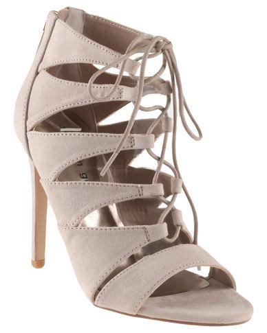 Steve Madden Raceyy Lace Up Gladiator Vamp High Heel Sandals