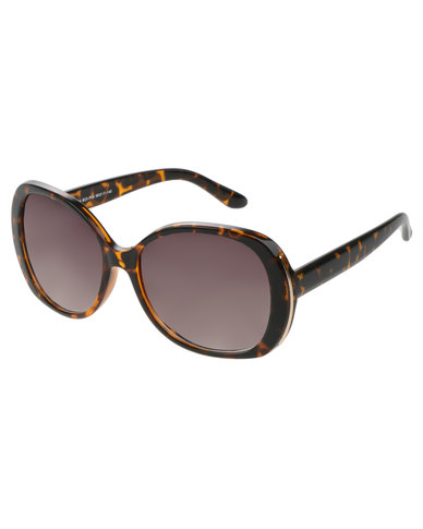 5d8fde8a525c G Couture Gold Side Trim Oversized Sunglasses With Hard Case Tortoiseshell