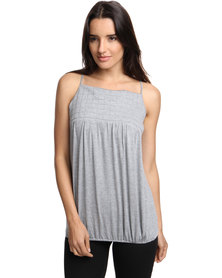 Brava Quilted Cami Top Grey
