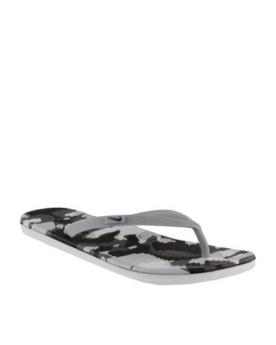 65255780f0f8 Nike Solarsoft Thong 2 Print Grey