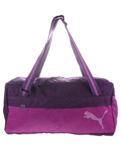 Puma Fundamentals Sports Duffel Bag Purple  a2a152e28375f