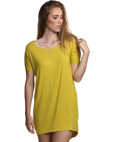 N'Joy T-Shirt Dress Mustard