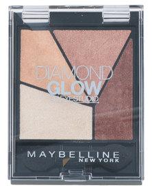 DISC Maybelline Diamond Quad Glow Coral Drama