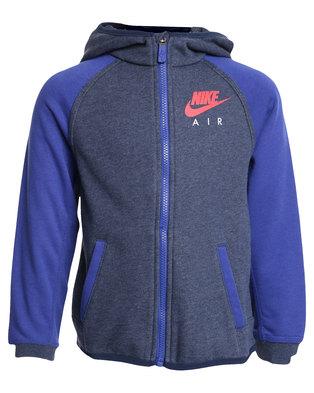 bc397c2cc6eb Nike HBR Brushed Fleece Full Zip Hoodie Blue