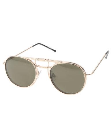 Spitfire PR56 FLIP Round Sunglasses Gold-tone