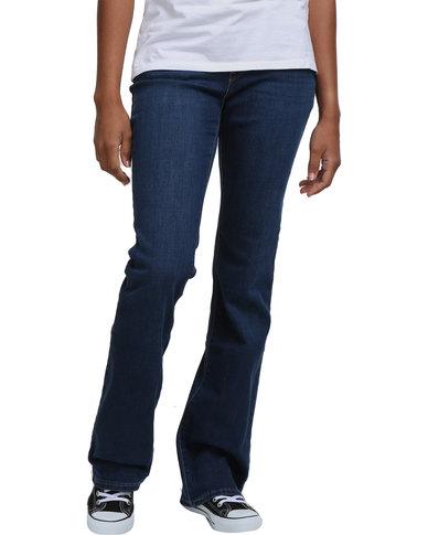 33666cd8 Levi's 815 Curvy Bootcut Jeans Runoff Blue | Zando