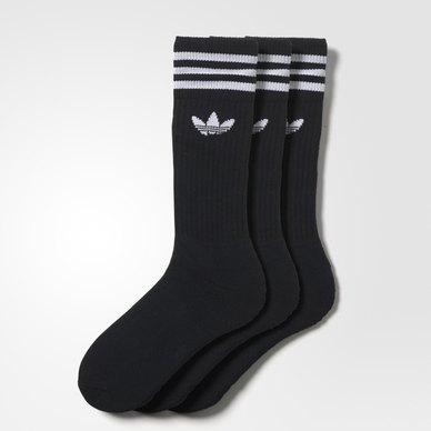 Solid Crew Socks 3 Pairs