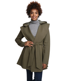 Female by Perfect Fit Trench Hoody Khaki
