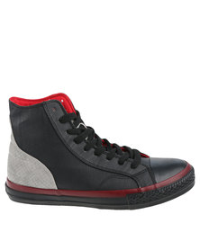 Cutty Cu Star Contrast Hi Top Sneaker Black