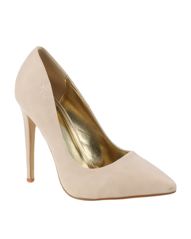PLUM Lilo Court Heel Shoe Nude