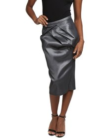 Larisa MODA Tulip Pencil Skirt Grey