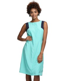 Larisa MODA Seaweed Dress Blue-Green
