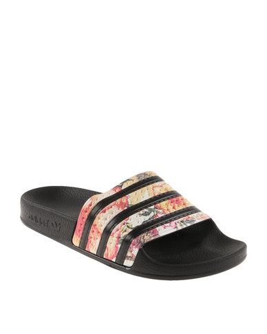 sports shoes 6b6d9 23cd5 adidas Adilette Farm Slider Black   Zando