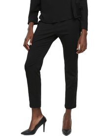 Jatine Capri Crepe Pants Black