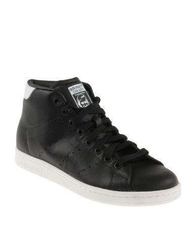 official photos 16973 27802 adidas Stan Smith Mid Shoes Black   Zando