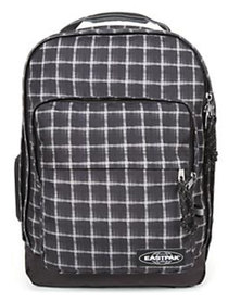 Eastpak Charged Checked Chizzo Backpack Black and White