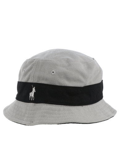 0f994002672 Polo Classic Colour Blocked Reversible Bucket Hat Grey
