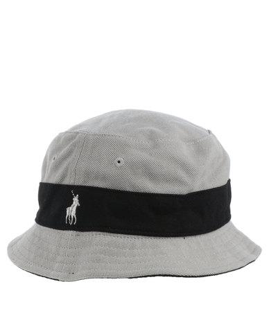 e6c40552079 Polo Classic Colour Blocked Reversible Bucket Hat Grey
