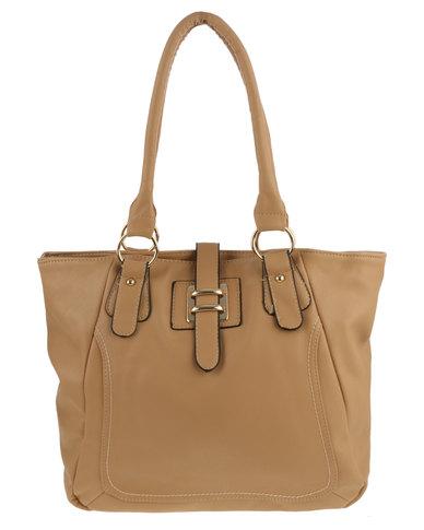 c959571d3c0c Marie Claire Tab Front Tote Bag Tan