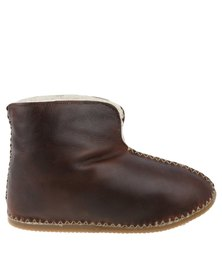 John Buck Unisex Gelder Sheepskin Slippers Brown