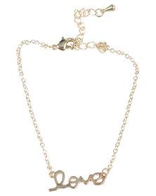 Que Boutique Love Bracelet Gold Tone