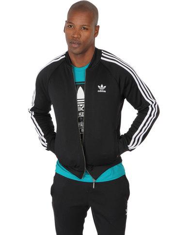 the best attitude 8b2d8 c7335 adidas Superstar Tracksuit Top Black   Zando