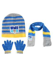 Character Brands Minions 3 Piece Winter Set Blue/Yellow