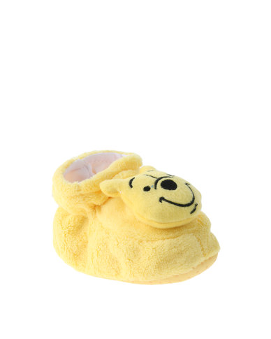 ba718b6509a7 Character Brands Winnie The Pooh Bootie Slippers Yellow White