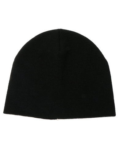d3e15e500b4 Flex Fit Plain Knit Beanie Black