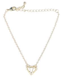 Que Boutique Diamond Outline Bracelet Gold-tone