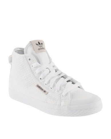baskets pour pas cher 40a41 7becf adidas Honey Mid Sneakers White