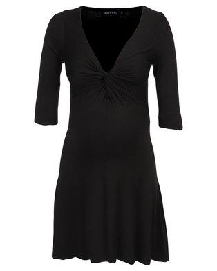 Annabella Maternity Three Quarter Sleeve Gabriella Dress Black