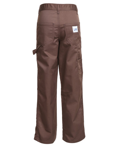d116d292967f21 Lee Boys Boss Of The Road Relaxed Carpenter Trousers Brown | Zando