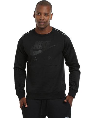 purchase cheap 34a26 23fec Nike Air Hybrid Fleece Crew Black  Zando