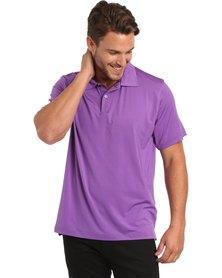 Ernie Els Solid Polo Tee Purple