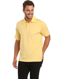 Ernie Els Solid Polo Tee Butter