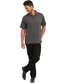 Ernie Els Solid Polo Tee Slate Grey