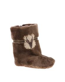 Myang Fur & Bokkie Boot Taupe