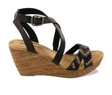 Minnetonka Zoey Wedge Sandals Black