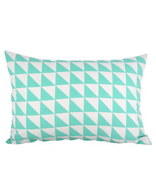 Casa Culture Triangles Cushion Aqua