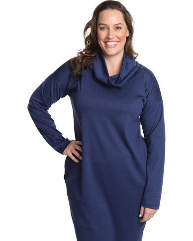 Isabel De Villiers Clothing Polo Dress Plus Size Navy Zando