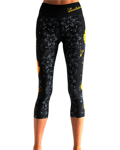 Vivolicious Buttercup Performance Tech Capri Black