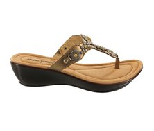 Minnetonka Boca Thong II Sandals Bronze