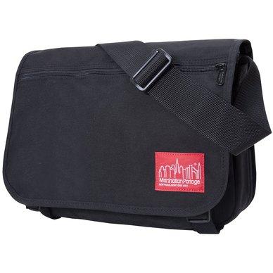 Manhattan Portage Europa Backzipper Compartments Satchel Black