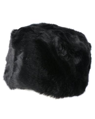 Queenspark New Faux Fur Cossack Hat Black  0321801c748
